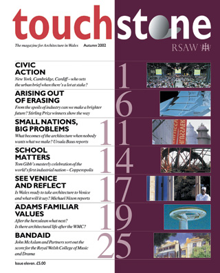 Touchstone magazine front cover, issue eleven.